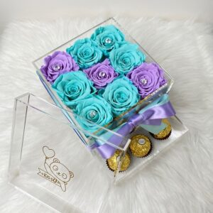 Preserved Roses Two Colors/ Acrylic Box
